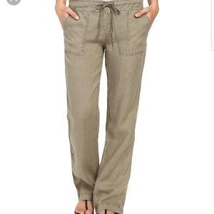 Michael Stars Green Linen Drawstring Pants